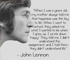 J Lennon Happy