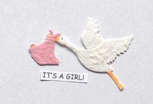 its a girl stork